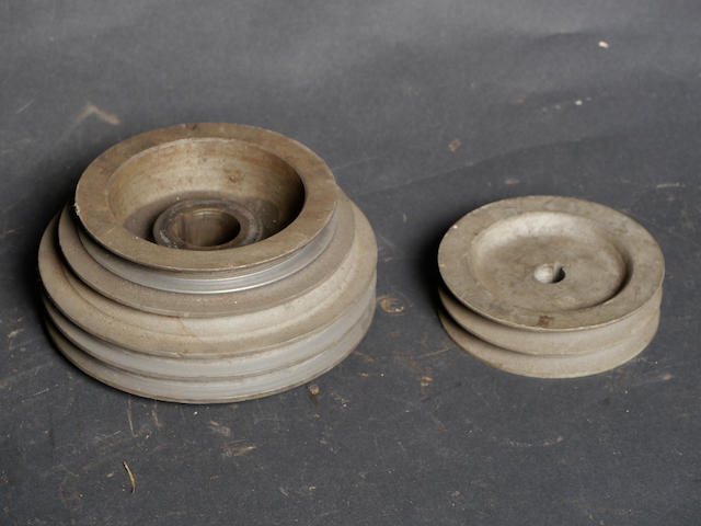 A pair of SCoT supercharger pulleys,