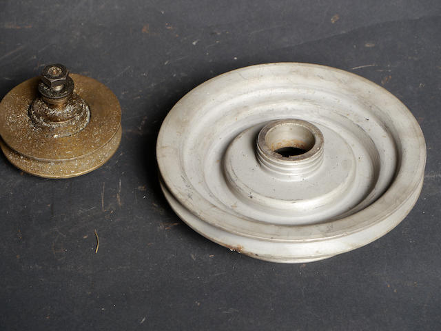 Two supercharger pulleys,
