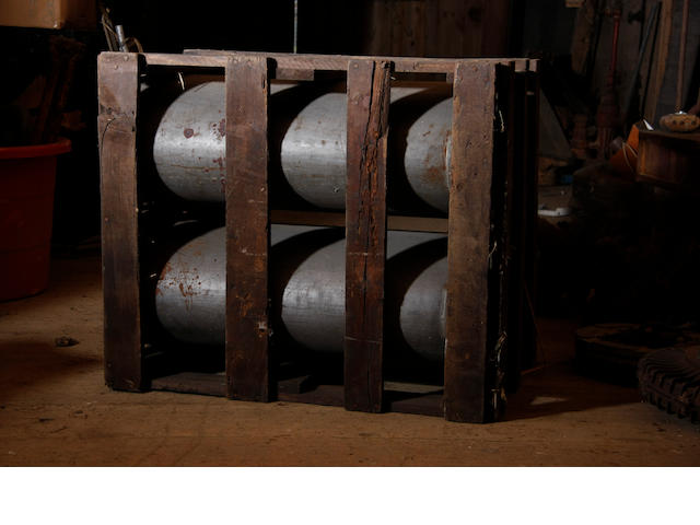 A pair of new-in-crate duPont gas tanks,