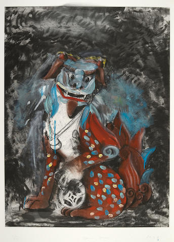 Jim Dine (born 1935); Fo Dog in Hell;