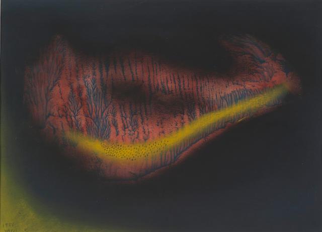 Yayoi Kusama (born 1929) Swamp, 1956 10 x 13 1/2 in. (25.5 x 34.3cm)