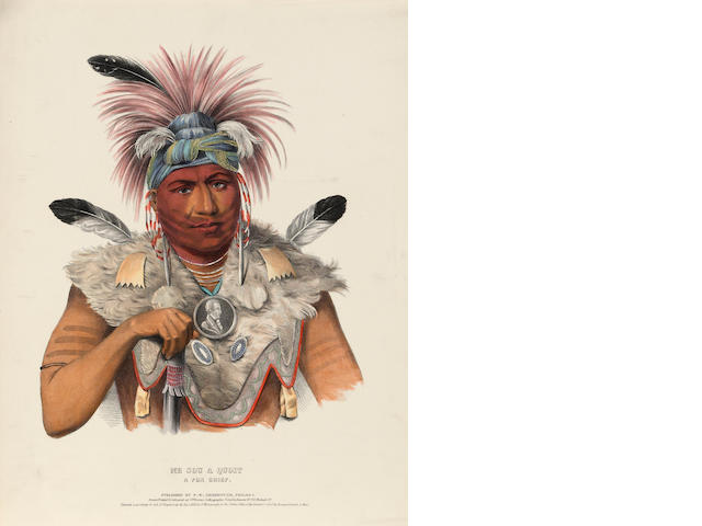 McKenney & Hall (American); Selected Plates, From The History of the Indian Tribes of North America; (22)