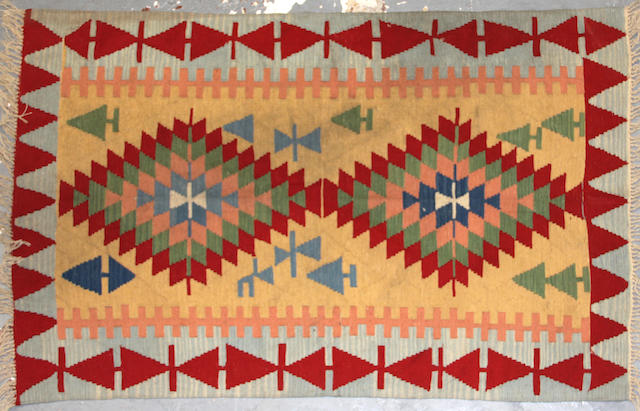 A Kilim size approximately 3ft. 11in. x 6ft.