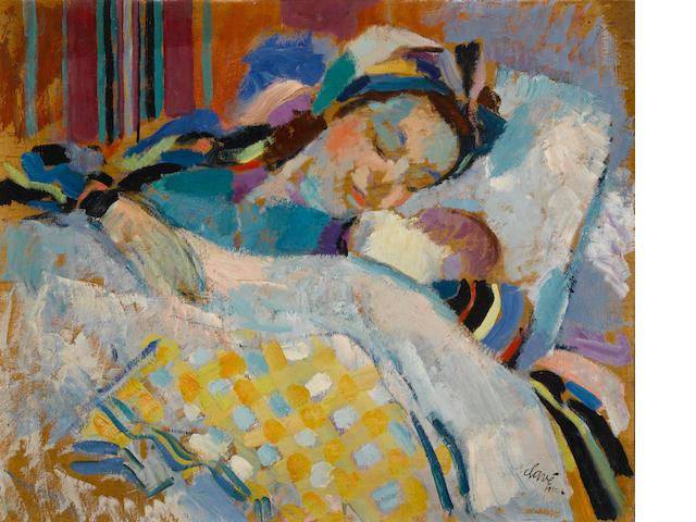 Antoni Clave (Spanish, 1913-2005) La jeune maman, 1942 14 3/4 x 18 1/8in. (37.4 x 46cm)