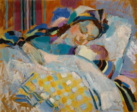 Antoni  Clavé (1913-2005) La jeune maman, 1942 15 x 18in. (38.1 x 45.7cm)