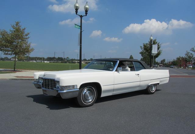 1968 Cadillac DeVille Convertible  Chassis no. F9133253