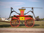 Martin Shreiner-Built,c.1830 Sun Fire Company Four-Man Hand-Drawn Double Pumper