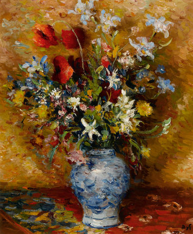 Marcel Dyf (French, 1899-1985) Coquelicot et iris 21 5/8 x 18 1/8in. (55 x 46cm)