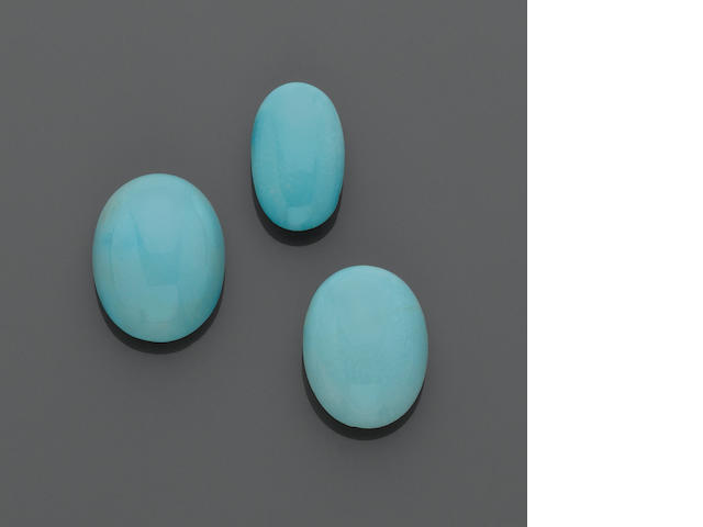 Three Turquoise Cabochons