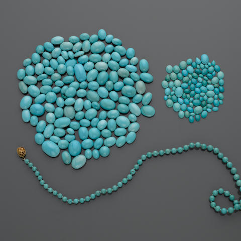 Large Group of Turquoise Cabochons