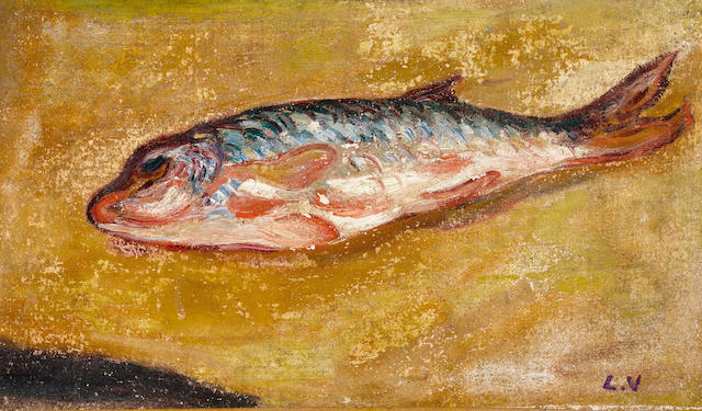 Attributed to Louis Valtat (1869-1952) Le poisson 10 5/8 x 18 1/8in. (27 x 46cm)