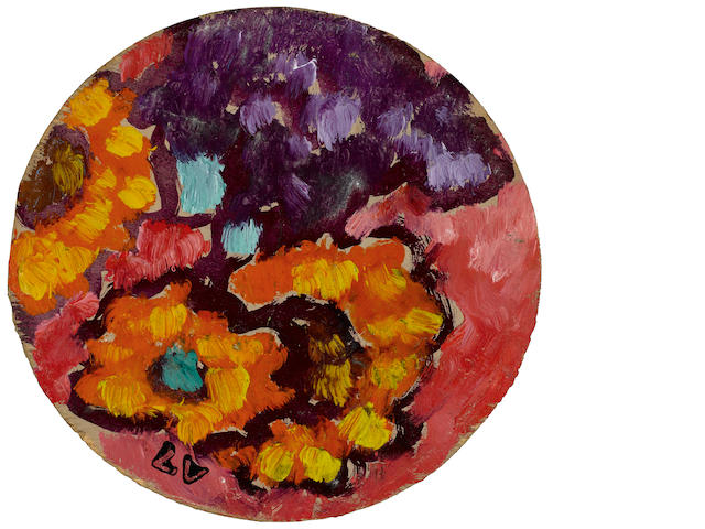 Louis Valtat (1869-1952) Fleurs 4 1/4 x 4 1/2in. (10.8 x 11.4cm)