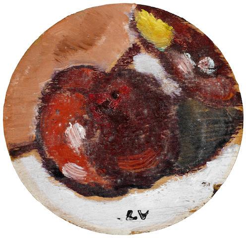 Louis Valtat (1869-1952) Une pomme 4 1/4 x 4 1/2in. (10.8 x 11.4cm)