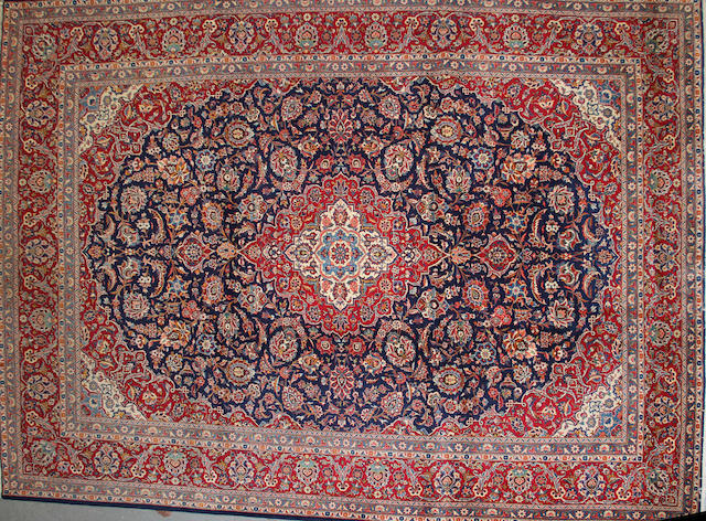 A Sarouk carpet size approximately 10ft. x 14ft. 1in.