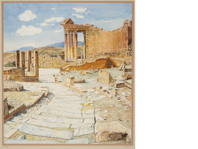 Artist Unknown Roman Ruins, Dougga, Tunisia, 1978 24 3/4 x 22 1/2in