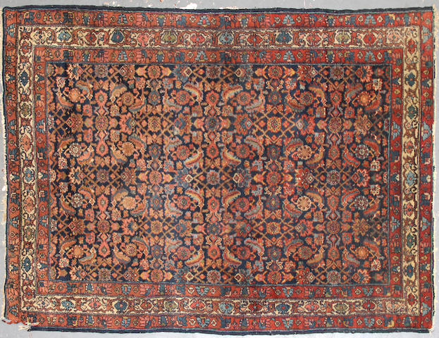 A Mahal rug  size approximately 4ft. 6in. x 6ft. 8in.