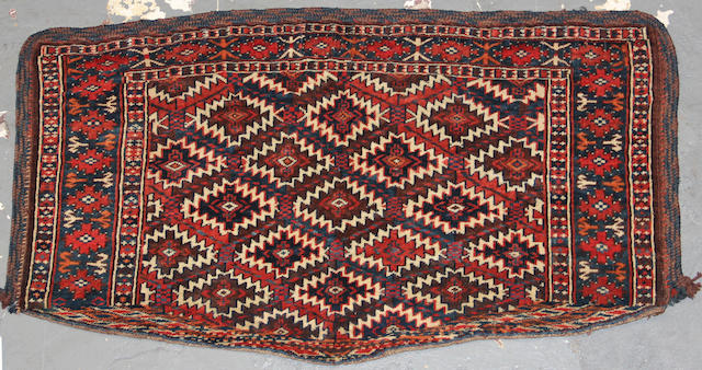 A Turkoman rug  size approximately 2ft. x 3ft. 7in.