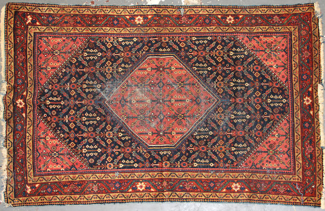 A Mahal rug size approximately 4ft. 3in. x 6ft. 9in.