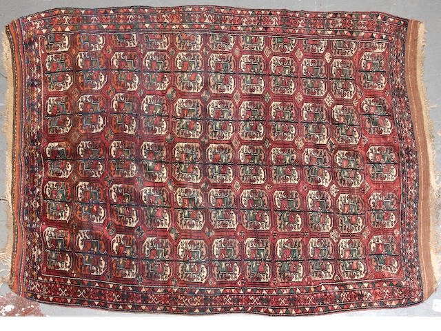 A Turkoman rug  size approximately 5ft. 4in. x 7ft. 9in.