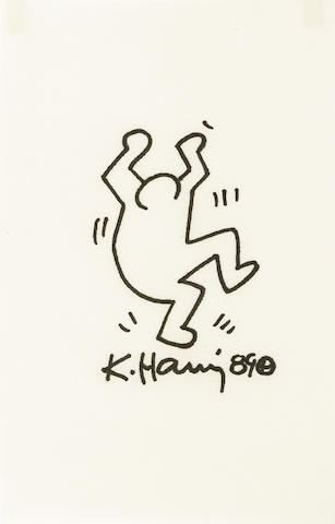 Keith Haring (1958-1990) Untitled, 1989 9 x 5 3/4in (22.9 x 14.6cm)