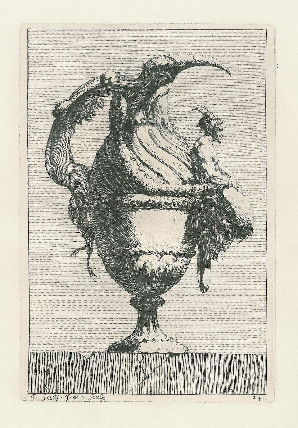 SALY, JACQUES FRANÇOIS. 1717-1776. Vasa a se inventa atq. studii causa delin. et incisa. [Rome]: 1746.