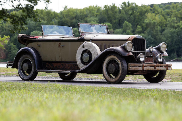 Barn discovery, fresh from long term ownership,1929 Pierce-Arrow Model 125 Dual Cowl Phaeton   Chassis no. 2005467