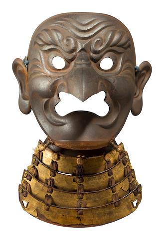 An iron tengu somen By Myochin Muneharu (?), Edo period (17th century)