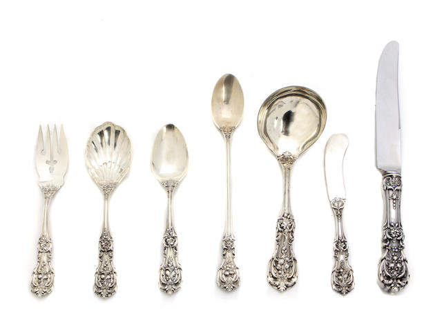 An American  sterling silver  part flatware service for eight Reed & Barton, Taunton, MA,  20th century