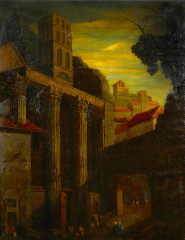 Italian School, 18th/19th century A capriccio landscape 44 x 34in