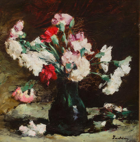 Stefan Luchian (Romanian, 1868-1916) A still life with carnations 17 x 16 3/4in (43 x 42.5cm)