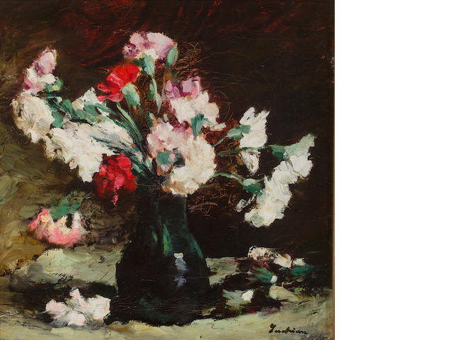 Stefan Luchian (Romanian, 1868-1916) Still life with carnations 17 x 16 3/4in (43 x 42.5cm)