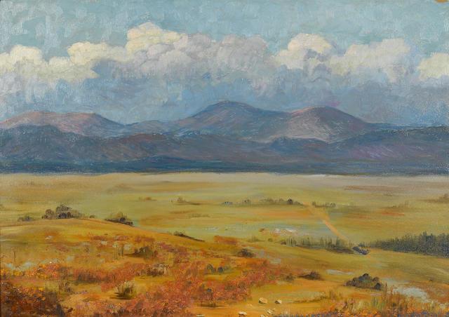 Blanche Dougan Cole (American, 1869-1956) Landscape 19 1/4 x 25 3/4in