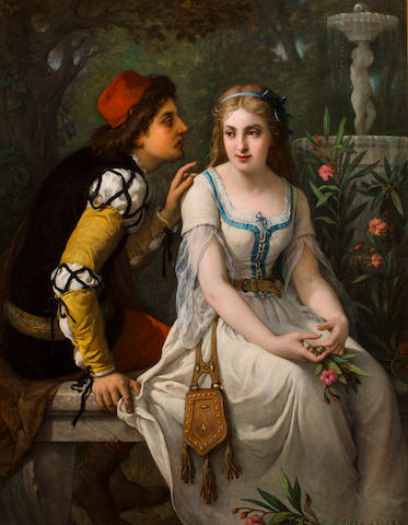 Jules Salles-Wagner (French, 1814-1898) Romeo and Juliet 53 1/4 x 41 1/2in (135.5 x 105.5cm)