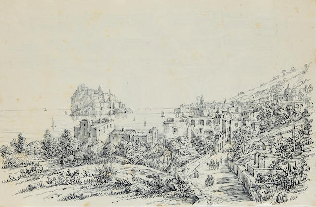 Antonio Senape (Italian, 1788-1850) Views of Naples, including panoramas of Sorrento, Vico, Castellammare, and views of Rome, Florence, Pompeii, Capri, Amalfi, Salerno, Milan, Pozzuolo and others (album of 51) the smallest: 6 1/2 x 8 1/4in (16.5 x 21cm); the largest: 8 3/4 x 13in (22.3 x 33cm)