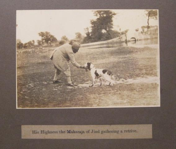 DOG SHOW ALBUM. Album containing 20 photographs of the Patiala Championship Dog Show,