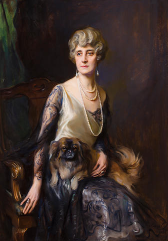 Philip de László (Hungarian, 1869-1937) Portrait of Mrs. Frederick L. Pratt, neé Miss Jeannie Williams 52 1/2 x 37in (133.5 x 94cm)