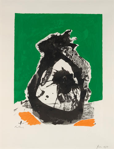 Robert Motherwell (1915-1991); Untitled, from The Basque Suite;