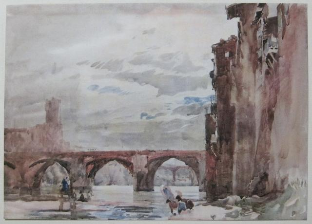 BRANGWYN, FRANK, illustrator. SPARROW, WALTER SHAW. A Book of Bridges. London: John Lane, 1916.