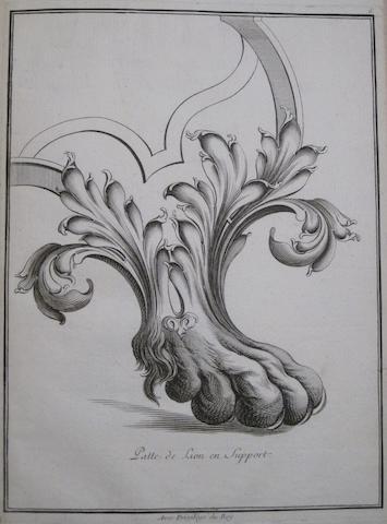 FONTAINE, JACQUES VALENTIN. Nouveau livre d'etudes et de principes de serrurreries. Paris: François Chereau, [c.1750].