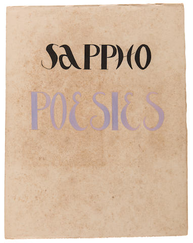 Alexandra Exter (Russian, 1884-1949) Sappho, Poesies, Fontenay-aux-Roses, 1944, number 5 of 5 copies  each page: 32.5 x 25cm (12 3/4 x 9 7/8in)