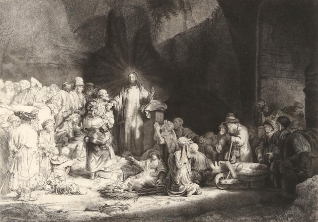Rembrandt Harmensz van Rijn (1606-1669); Christ Healing the Sick: 'The Hundred Guilder Print';
