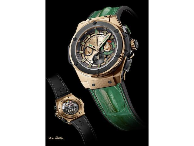 Hublot. The unique Kenneth Howard Norton WBC chronograph wristwatchKing Power, Ref:703.OM.0218.HR.WBC12