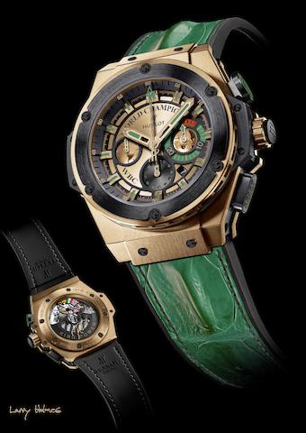 Hublot. The unique Larry Holmes WBC chronograph wristwatchKing Power, Ref:703.OM.0218.HR.WBC12