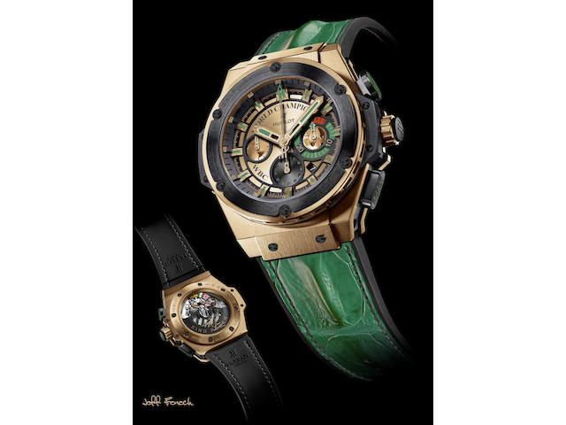Hublot. The unique Jeff Fenech WBC chronograph wristwatchKing Power, Ref:703.OM.0218.HR.WBC12