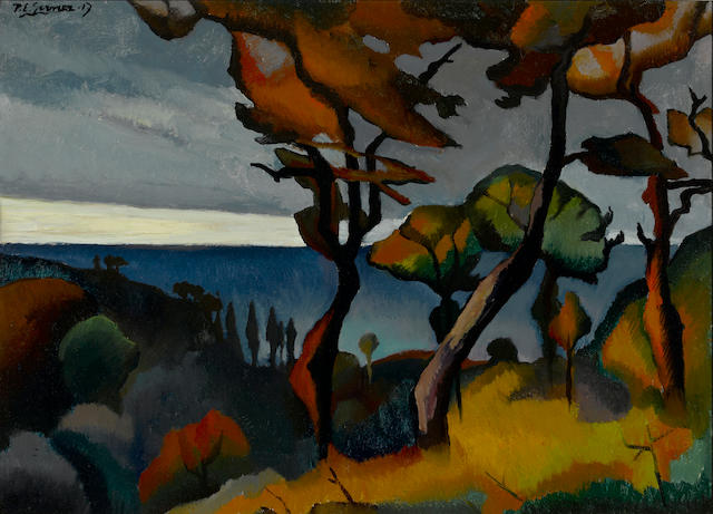 Paul Elie Gernez (1888-1948) Paysage (Arbres rouges) 21 1/4 x 28 15/16in. (54 x 73.5cm)