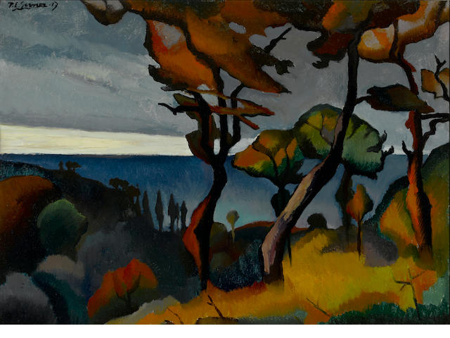 Attributed to Paul Elie Gernez (French, 1888-1948), Authenticating Paysage (Arbres rouges) 21 1/4 x 28 15/16in. (54 x 73.5cm)