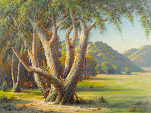 Paul A. Grimm (American, 1891-1974) Stately Eucalyptus 30 x 40in unframed