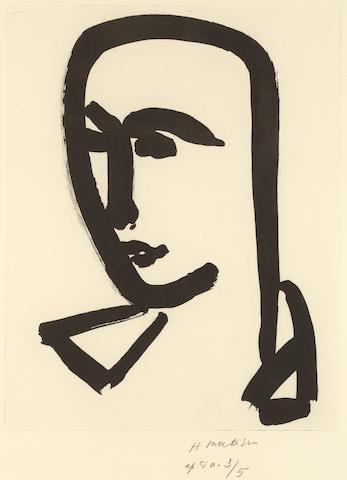Henri Matisse (1869-1954); Jeune étudiant de trois-quarts;
