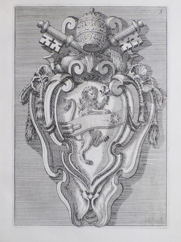 JUVARRA, FILIPPO. 1678-1736. Raccolta di targhe fatte da professori primari in Roma. Rome: G.M. Salvioni, 1722.