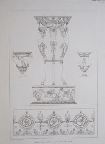 PERCIER, CHARLES, AND PIERRE F.L. FONTAINE. Recueil de décorations intérieures, comprenant tout ce qui a rapport à l'ameublement. Paris: the Authors, 1812.